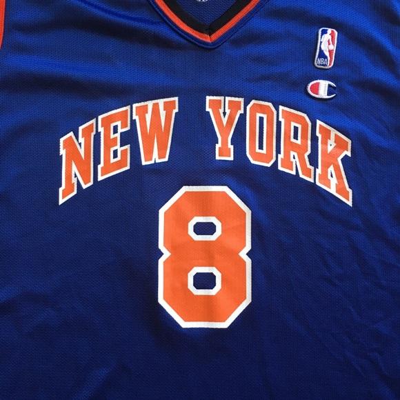 5552cb2e289 Champion Shirts | Vintage Ny Knicks Sprewell 8 Jersey Mens Large ...